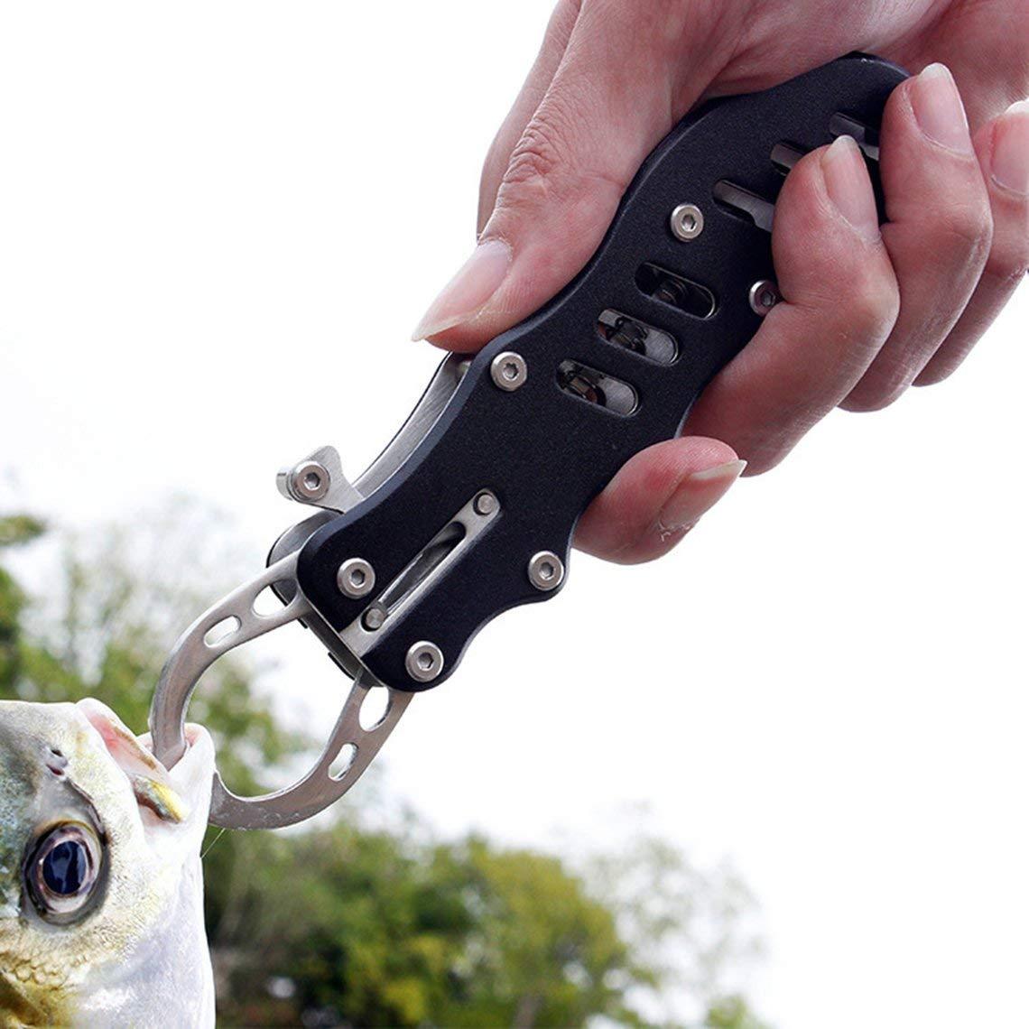Zinniaya Herramienta de Agarre de Pesca port/átil de Agarre de Pescado Grip agarrador de Pesca de Acero Inoxidable Controlador de Pinza Plegable Accesorios de Pesca