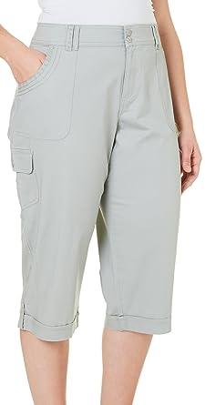 Gloria Vanderbilt Plus Mae Cargo Capris at Amazon Women's Clothing ...