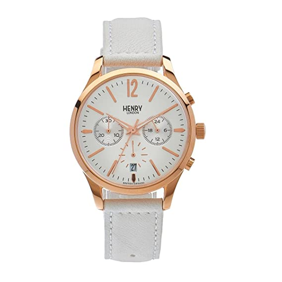 Henry de Londres Unisex Reloj de Pulsera Pimlico Cronógrafo Cuarzo Piel hl39 de CS de 0126
