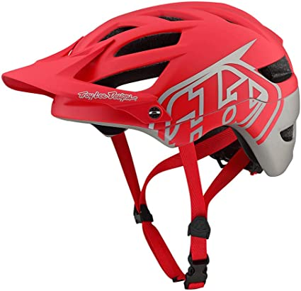 Troy Lee Designs A1 MIPS Classic Red//Silver Mountain Bike Helmet 4 Sizes