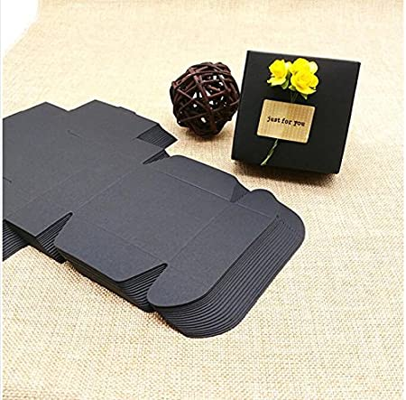 Amazon.com : Lavenz 100pcs Wholesale Black Carton Kraft Paper Jewelry gift cardboard box for packaging cajas carton gift paper packaging box lot : Office ...