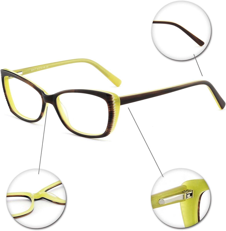 OCCI CHIARI Optical Glasses Frame Womens Stylish Eyewear Frame Non-Prescription Clear Eyeglasses
