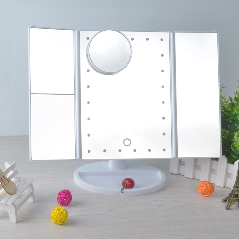 Amazon.com: Geek-House LED Lighted Vanity Mirror Make Up Cosmetic ...