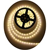 Alarmpore 16.4FT 5M SMD 5050 Waterproof 300LEDs Warm White 3500K LED Flash Strip Light, LED Flexible Ribbon Lighting Strip