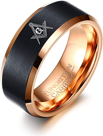 Cloud Dancer Free Custom Engraving The Legend of Zelda Ring Crest and Triforce Ring Black and Blue Step Tungsten Carbide Wedding Bands Ring