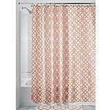 "InterDesign Trellis Fabric Shower Curtain - 72"" x 72"", Coral"