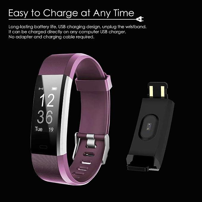 Bluetooth Smart Fitness Tracker, Bluetooth Smart Watch Heart Rate ...
