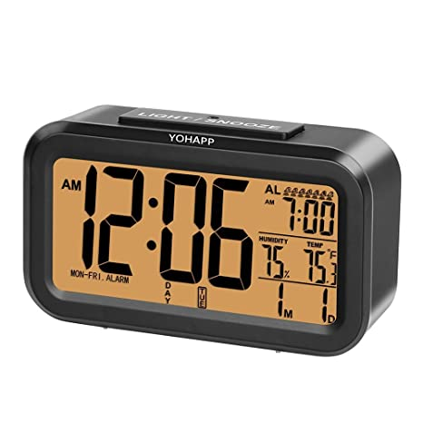 yohapp multifunción - Reloj despertador digital termómetro ...