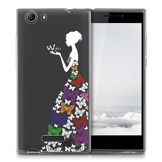 2 opinioni per Pulp 4G Cover ,YIGA Colore Ragazza Farfalla Trasparente Silicone Morbido TPU