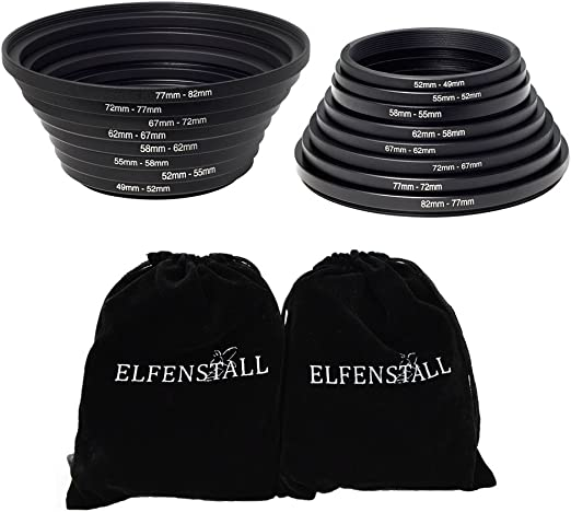 Elfenstall 8 X Step Up 8 X Step Down Ring Filter Adapter 49 82 Mm