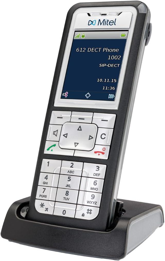 Mitel 612 - Teléfono (Teléfono DECT, Terminal inalámbrico, 8 entradas, Negro, Plata): Amazon.es: Electrónica