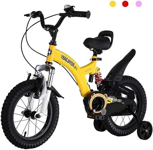 KOSGK Bicicletas Deluxe Bicicletas 2-4-6-7-8-9-10 AñOs Bicicleta ...