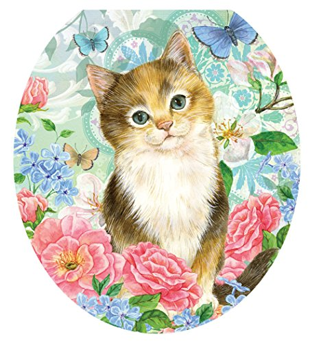 Toilet Tattoos, Toilet Seat  Cover Decal,Soft Kitten, Size Round/standard by Toilet Tattoos