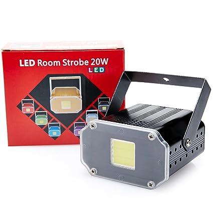 Amazon.com: Mini Control de Voz LED Luz estroboscópica Disco ...