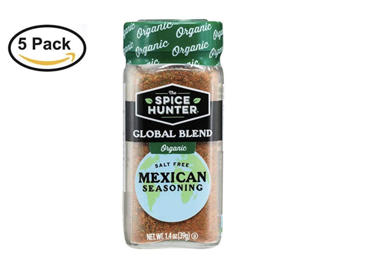 The Spice Hunter Organic Mexican Seasoning Blend, 1.4 oz. jar (5 Pack)