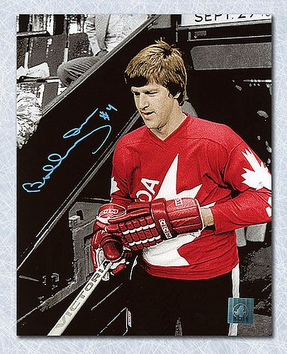 Bobby Orr Team Canada Autographed 1976 Canada Cup Spotlight 11x14 Photo: GNR COA - Signed Hockey Pictures