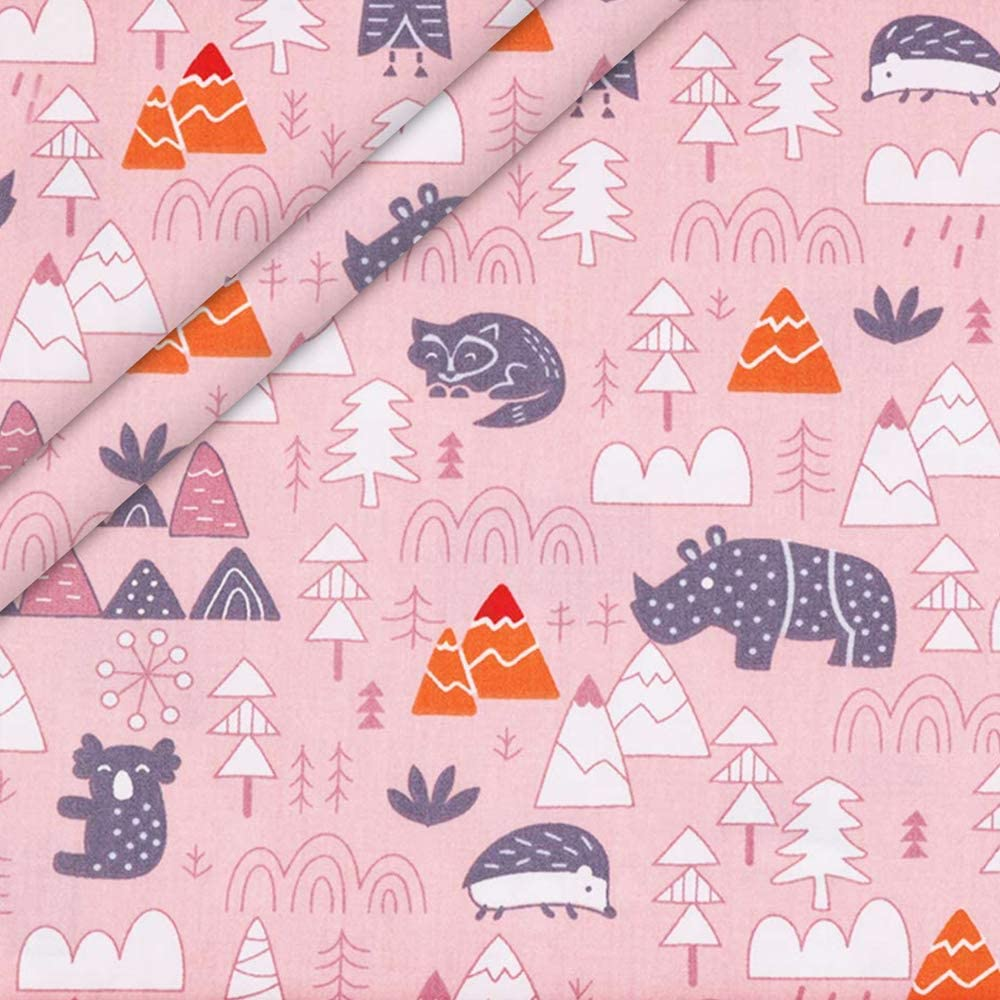 Forest Aubliss 8pcs Fat Quarter Fabric Bundles Quilting Cotton Craft Fabric Pre-Cut Squares Sheets for Patchwork Sewing Quilting Crafting,40cm x 50cm