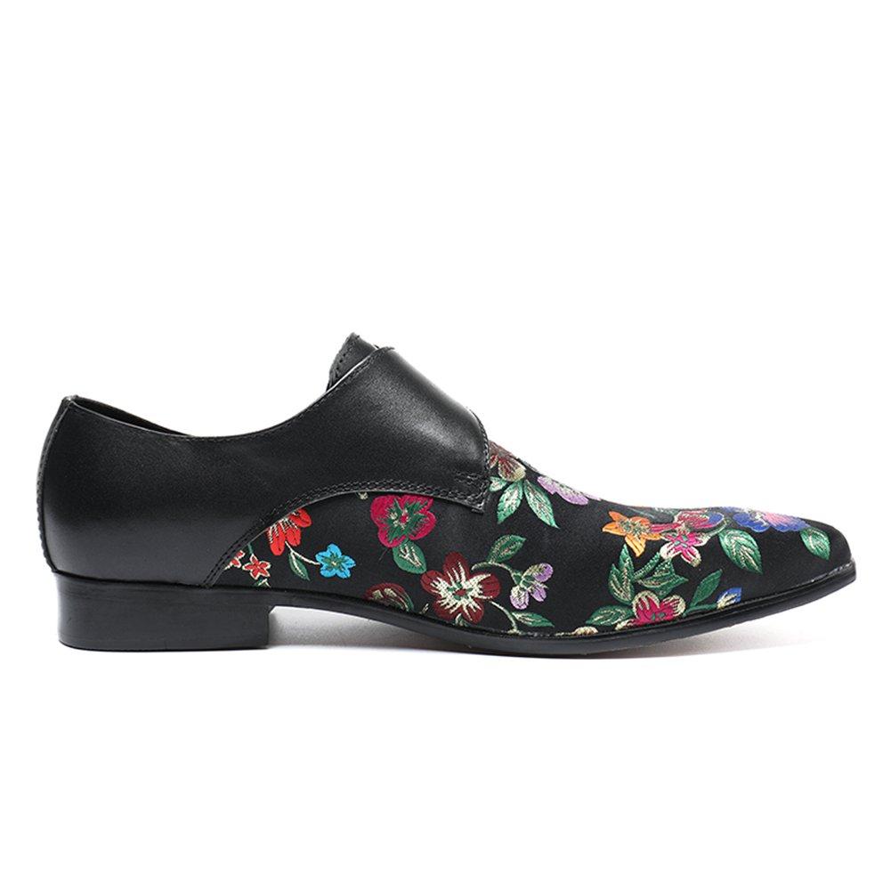 Zapatos de Moda para Hombre de Negocios Casuales Zapatos de Personalidad Otoño e Invierno Zapatos de Punta Botas Zapatos 42 EU|Negro