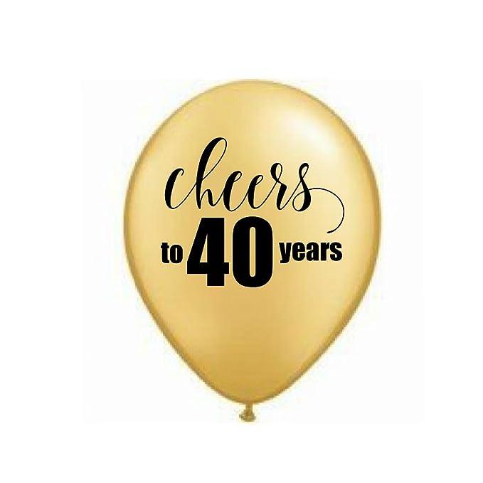 Amazon.com: Oro Cheers a 40 años, 40 globos, 40th fiesta de ...