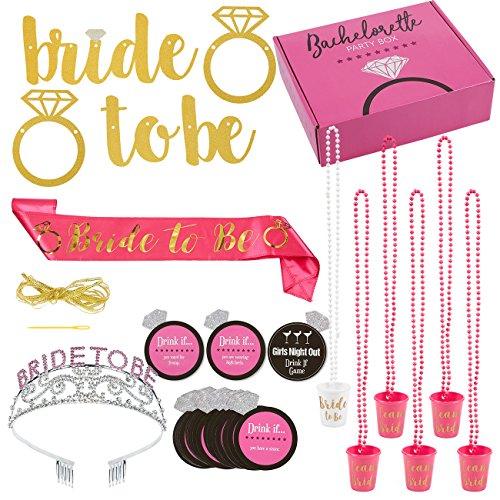 Bachelorette Party Supplies Kit - Bride-to-Be Sash, Bachelorette