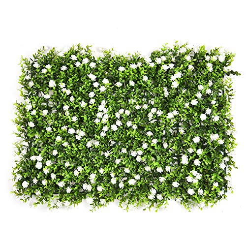 Grass Hanging Panel - YEYE Plastic Green Artificial Plant Screen Panels,Fake Wall Hanging Hedge Grass Background for Home Garden Wedding Party Decor-d 60x40cm(24x16inch)