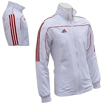 adidas kampfsport trainingsanzug jacke weiß (kleine / 160 170cm