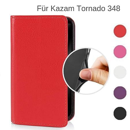 MOKASY Tornado 348 Hülle kompatibel mit Kazam ?? Tornado 348 ?? unzerbrechliche Schutzhülle Handyhülle aus Silikon mit Magnet