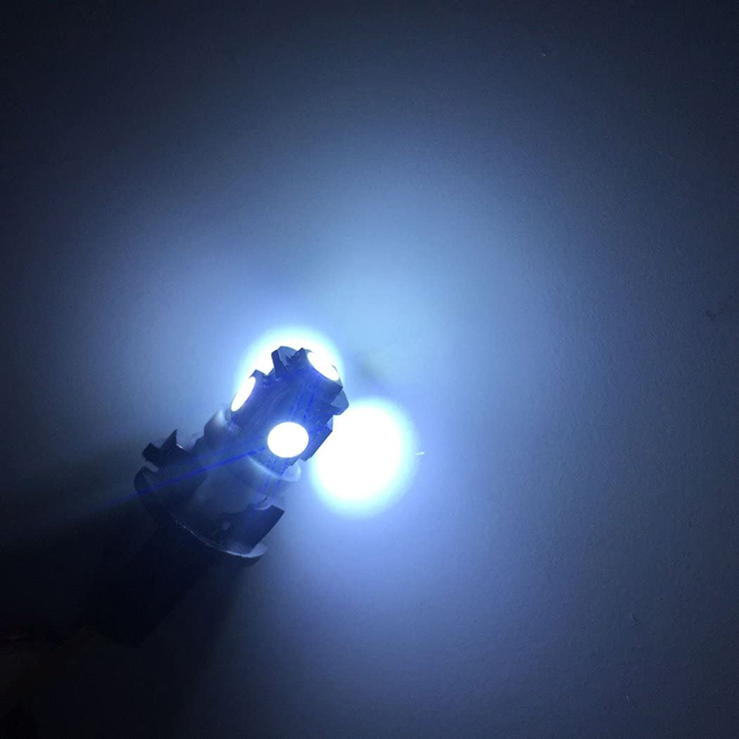 Fansport Car LED Bulb 10PCS T10 5050 5SMD 12V Car Wedge Light Car Interior Bulb Parking Bulb