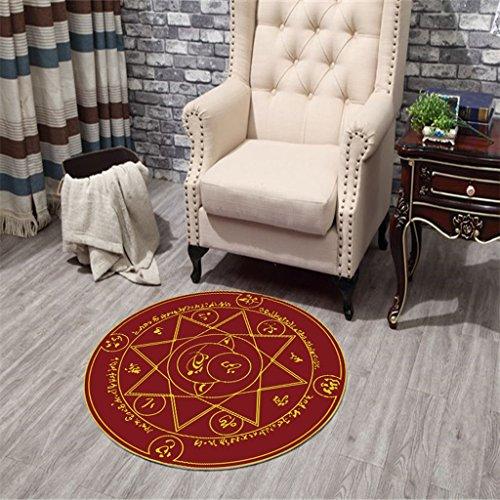 Interior carpet Round carpet Child bedroom carpet carpet computer chair Hang basket puzzle pad blanket ( Color : C , Size : 8080cm ()