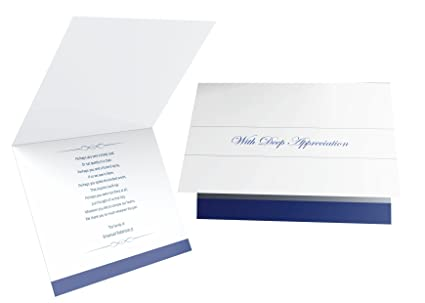 personalized funeral thank you cards and envelopes set of 50 standard - Personalized Funeral Thank You Cards