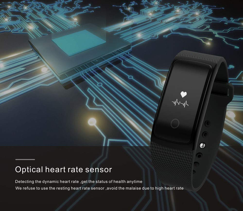 YANG-YI Sport Watch Touch Screen Electronic Watches Wireless HD Heart Rate Smart Watch for Android iOS Blue