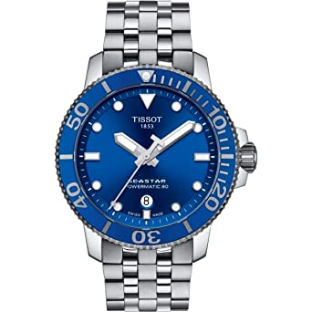 c83fa9239894 Image Unavailable. Image not available for. Color  Tissot Seastar 1000  Automatic Blue Dial Men s Watch ...