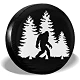 SUV Truck and Many Vehicle Size 14 15 16 17 Bigfoot UFO Aliens Believe Sasquatch Universal Fit Tire Covers Waterproof Dust-Proof Spare Tire Cover for Jeep,Trailer RV
