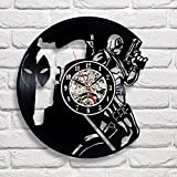 Deadpool Movie Art Vinyl Wall Clock Gift Room Modern Home Record Vintage Decoration