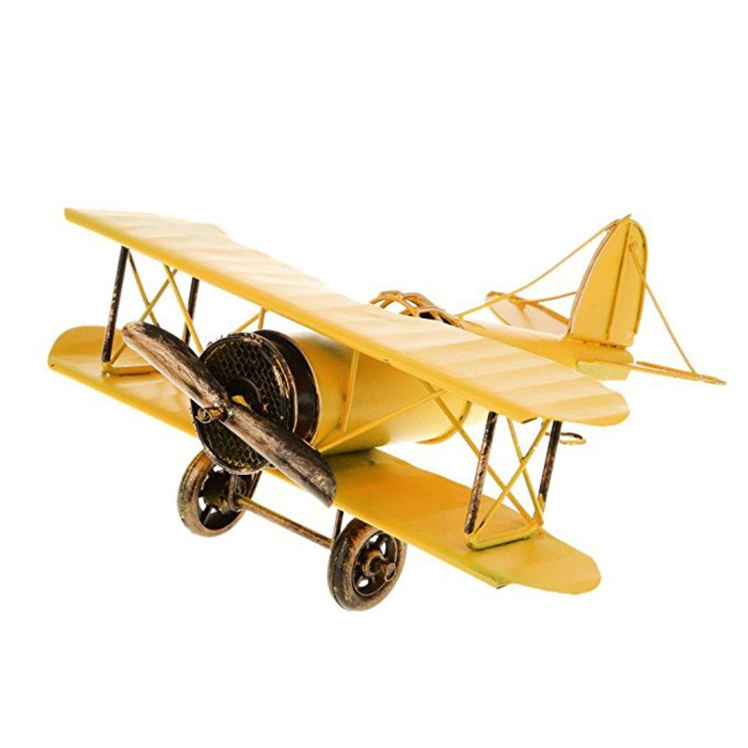 Aircraft model Kid toys,Internet 2018 Newest Fashion Simulate Metal Airplane Model Hot Pendant Home Decor Boy Favor Gift (16.5CM*15CM*6CM, Blue) Internet_8810