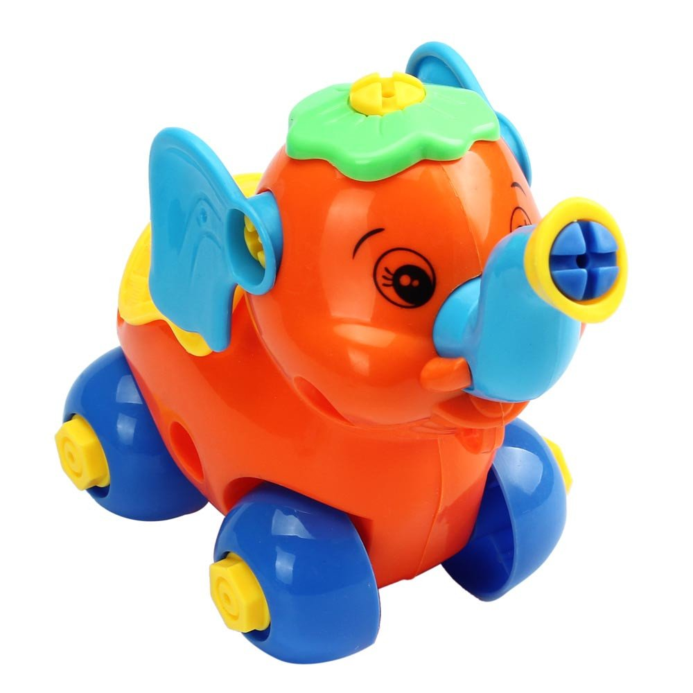 Kasenxet Baby Toy Car Colorful Funny Elephant Disassembly Educational Toys for Children Kids(B)