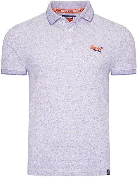 Superdry Orange Label Jersey Polo Navy Grit