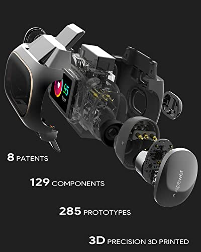 Aipower Wearbuds True Wireless Earbuds Fitness Tracker 2 in 1 with Bluetooth 5, AptX, IPX6, Mono Mode, 5.5H Playtime, Heart Rate Monitor, Pedometer, Calorie Counter for Sport, Men and Women W20