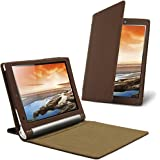 Celicious Notecase W2 Wallet Stand Case for Lenovo Yoga Tablet 10 - Brown