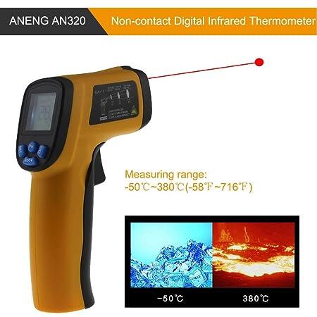 Termometro A Infrarossi Termometro A Infrarossi Laser Digitale Senza Contatto Con Display LCD Termometro Da Cucina Pistola Di Temperatura -58℉~716℉ -50℃~380℃