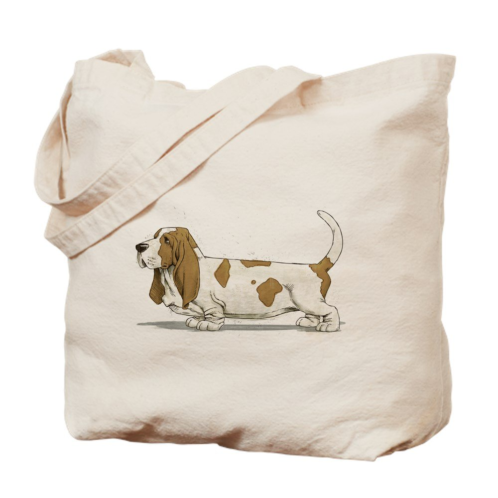 Amazon.com: CafePress - Basset Hound - Natural Canvas Tote Bag ...