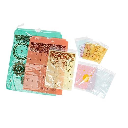 9 piezas de encaje de flores varios colores bolsas de ...