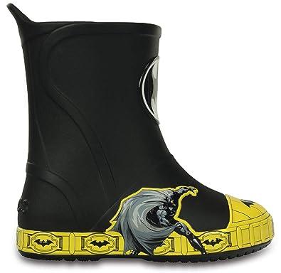 d4b99e068 Crocs kids bump it batman boot black size jpg 395x384 Crocs batman rain  boots
