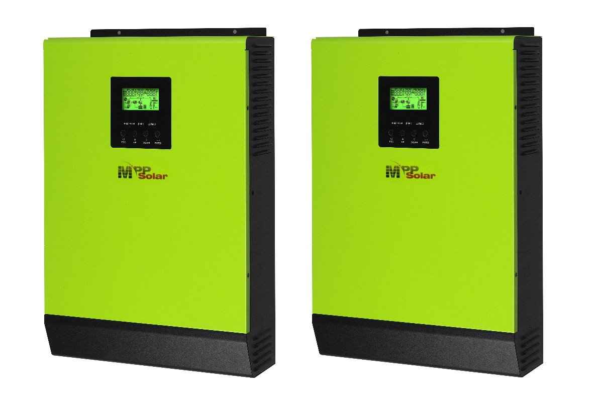 MPP SOLAR Hybrid or Off-Grid 4800w Pure Sine Wave Split Phase Power Inverter with mppt Solar Charger 80A DC 24V AC Output 120V 240V with 60A Utility Charger 50HZ or 60HZ by MPP SOLAR