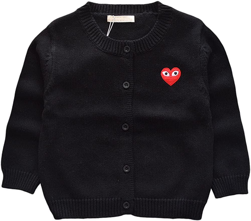 Baby Boys Girls 1-5 Years Sweater Cardigans Cotton Knit Sweater Red//Black//Grey//Yellow