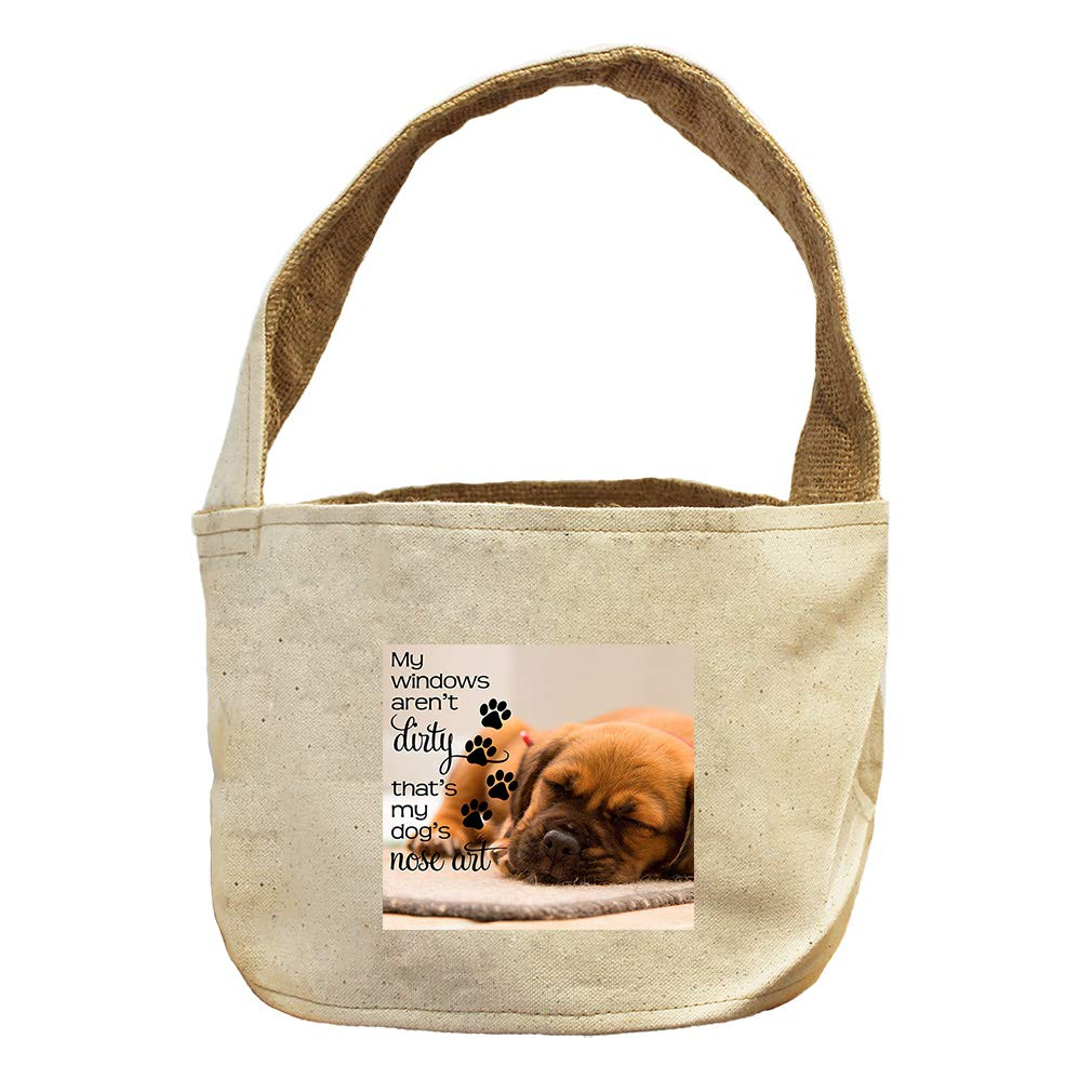 Style in Print My Windows aren't That's My Dog's Nose Art Canvas and Burlap Storage Basket
