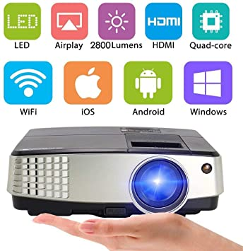 WiFi LCD Portátil Bluetooth Proyector 3300 lúmenes, Multimedia ...