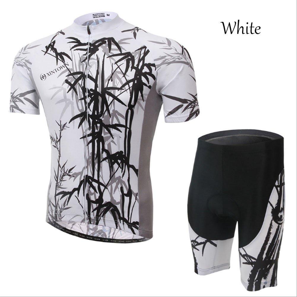 Smwsf WSF Outdoor-Sportarten Reitkleidung Kurzärmeliger Anzug Fahrradkleidung Sommersaison Feuchtigkeitstransport Kleidung Hosen, Weiß, m