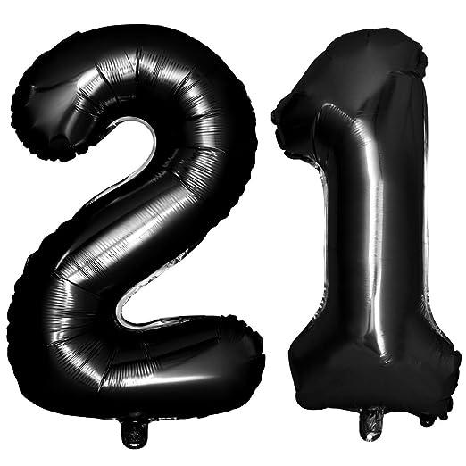 STOBOK Número 21 30 40 50 60 70 80 90 Globo Cumpleaños ...