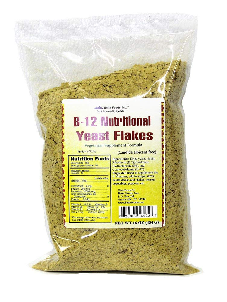 B-12 Nutritional Yeast Flakes (16 ounce bag)
